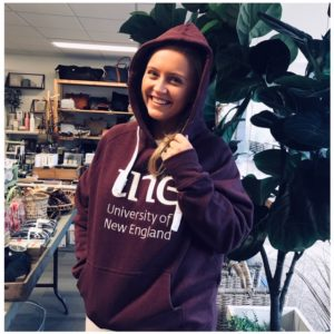 UNE HOODIE MAROON 2019 University of New England Clothing Merch, UNE Life, The Shop