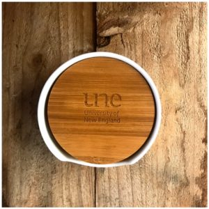Bamboo UNE Coaster Set of 4