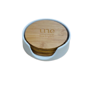 Bamboo UNE Coaster Set of 4