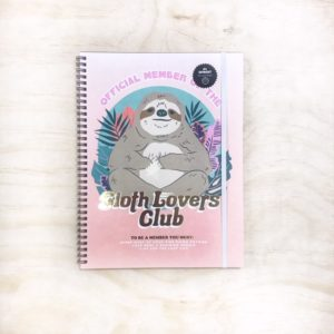 Notebook Sloth Front UNE Life, The Shop