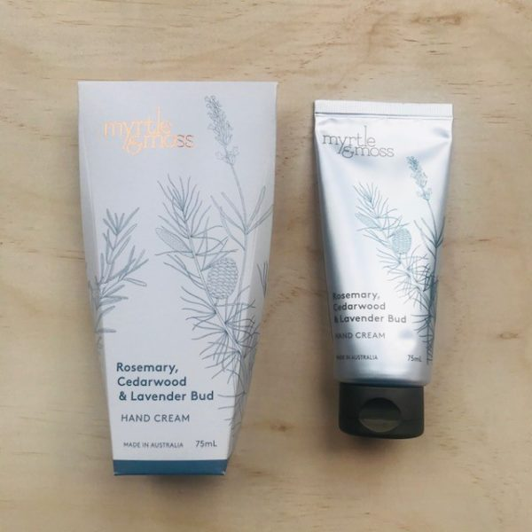Myrtle And Moss Hand Cream Rosemary, Cedarwood, UNE Life, The Shop