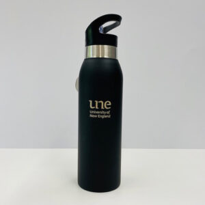 UNE Merch, reusable thermo drink bottle, University of New England