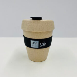 UNE Merch, reusable coffee cup bamboo, University of New England