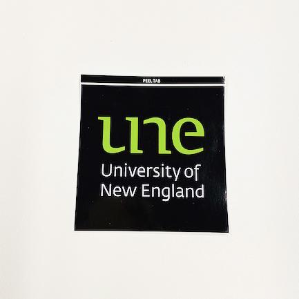 UNE Merch, logo sticker, University of New England