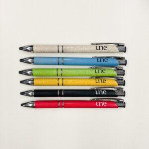 UNE Merch, assorted bamboo pen, University of New England