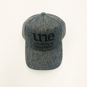 UNE Merch, Dark Grey Cap, University of New England