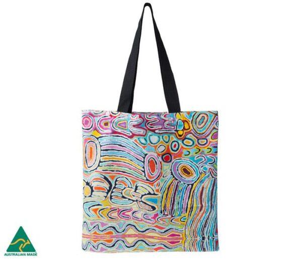 Artist design Judy Watson, tote bag by a Warlukurlangu Artist in a contempoary design