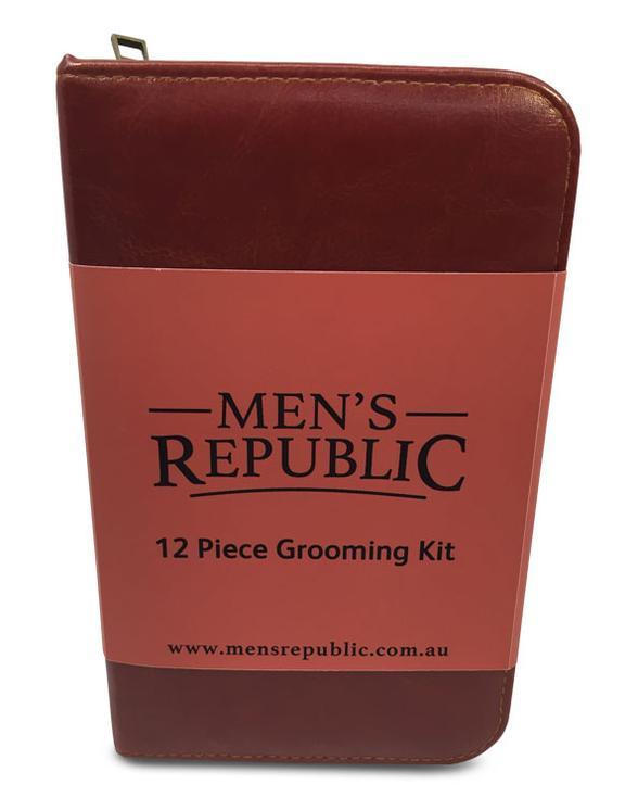 Men's Republic – Men's Grooming Kit – 12 Pieces in Zipper Bag