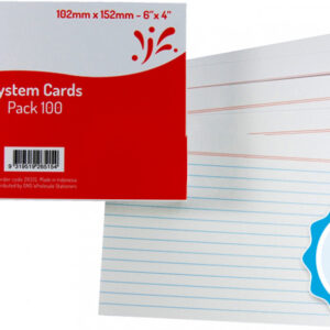 System Cards- White 102mm  x 152mm